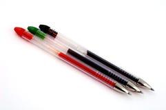 Gekleurde ballpointen Stock Afbeelding