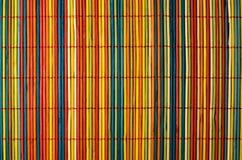 Gekleurde bamboedekking Royalty-vrije Stock Fotografie