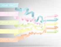 5 gekleurde banners, 5 origami-stijl vogels Vector illustratie Vector Illustratie