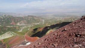 Gekleurde Bergen Pamir Stock Afbeelding