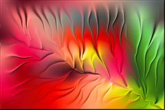 Gekleurde blad 3d achtergrondbehang vectorillustratie vector illustratie