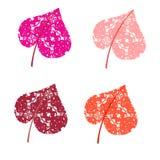 Gekleurde bladerenharten Vector Royalty-vrije Stock Afbeelding
