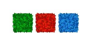 Gekleurde bladvierkanten royalty-vrije stock afbeelding
