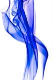 Gekleurde blauwe rook Stock Foto