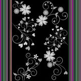 Gekleurde bloemen en strepen Stock Afbeelding