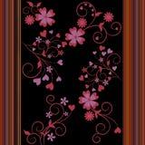 Gekleurde bloemen en strepen Stock Afbeeldingen