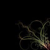 Gekleurde bloemornamenten Stock Afbeelding