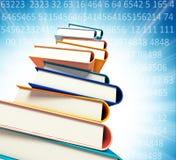 Gekleurde boeken op achtergrond Stock Afbeeldingen