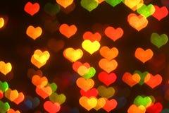 Gekleurde bokeh achtergrond Stock Afbeeldingen