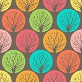 Gekleurde bomen royalty-vrije illustratie
