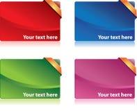 Gekleurde bonuskaarten Stock Afbeeldingen
