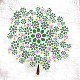 gekleurde boom Stock Afbeelding