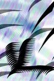 Gekleurde borstel moderne Chinese kalligrafie Stock Foto