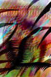 Gekleurde borstel moderne Chinese kalligrafie Stock Afbeeldingen
