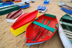 Gekleurde boten Stock Fotografie