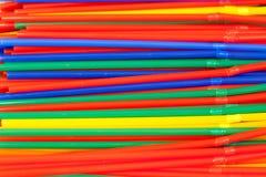 Gekleurde buisjes voor een cocktail Royalty-vrije Stock Foto
