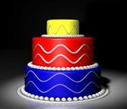 Gekleurde cake Royalty-vrije Stock Fotografie