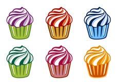 Gekleurde cakes Royalty-vrije Stock Afbeeldingen