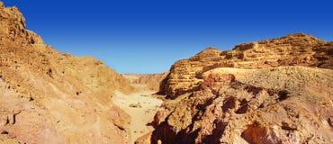 Gekleurde canion - panorama Stock Foto