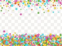 Gekleurde carnaval confettienachtergrond stock illustratie