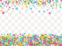Gekleurde carnaval confettienachtergrond Stock Foto