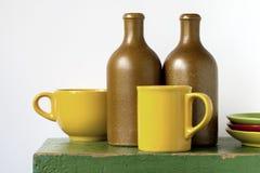 Gekleurde ceramische waren Stock Foto