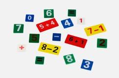 Gekleurde cijfers Stock Afbeelding