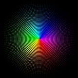 Gekleurde cirkels, ballen op een zwarte achtergrond royalty-vrije illustratie