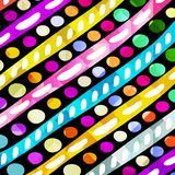 Gekleurde cirkels en lijnen geometrische achtergrond stock illustratie