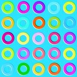 Gekleurde cirkels Naadloos patroon Stock Foto's