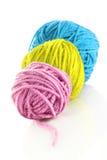 Gekleurde de boom wolen geïsoleerdee ballen Stock Afbeelding