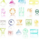 Gekleurde de piekenzegels van Bergbeklimmers Stock Foto