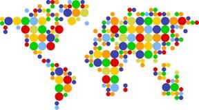 Gekleurde de scores van de wereld Stock Illustratie
