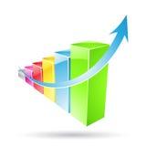 Gekleurde de Staven van Stats Stock Foto