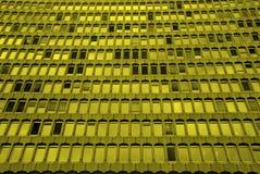 Gekleurde de vensters van Bulding Stock Foto's