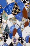 Gekleurde decoratieve tegels Trillende retro uitstekende achtergrond Stock Foto's