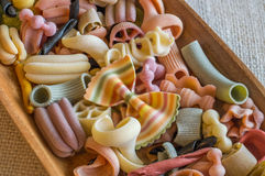 Gekleurde deegwaren Stock Afbeelding