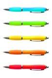 Gekleurde Heldere Pennen Royalty-vrije Stock Fotografie
