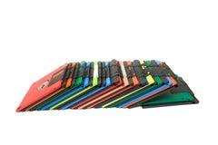 Gekleurde diskette Royalty-vrije Stock Foto's