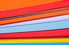 Gekleurde document bladen Royalty-vrije Stock Fotografie
