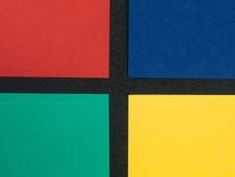 Gekleurde Document Kaartachtergronden met Exemplaarruimte Stock Afbeeldingen