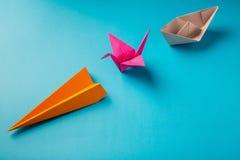 Gekleurde document origami royalty-vrije stock foto