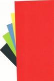 Gekleurde documenten Royalty-vrije Stock Afbeeldingen