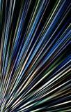Gekleurde donkere achtergrond Stroken die van de lagere hoek aan de randen divergeren Royalty-vrije Stock Foto's