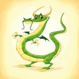 Gekleurde draak. Stock Afbeeldingen
