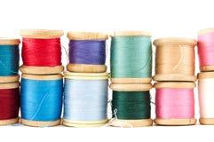 Gekleurde draden Stock Fotografie