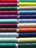 Gekleurde draden Royalty-vrije Stock Foto's