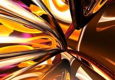Gekleurde draden in chrom 02 Royalty-vrije Stock Afbeeldingen