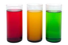 Gekleurde dranken Stock Foto's