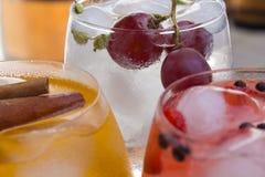 Gekleurde dranken of cocktails in een bar Royalty-vrije Stock Foto's
